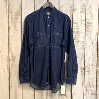 STAND COLLAR LONG SLEEVE SHIRT (One Wash)  01-8057 / orSlow