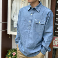 CHAMBRAY PULL OVER SHIRTS (BLUE)  / CAMCO