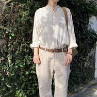 コットンテンセル ワイドストライプスタンドシャツ / ARTE POVERA