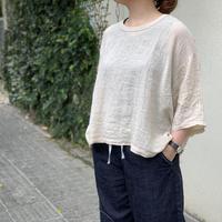 リネンクルーワイドTシャツ / ARTE POVERA