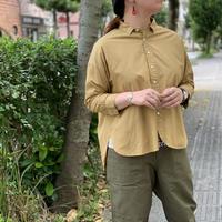 200/2サイロツイル 8分袖レギュラーカラーワイドシャツ / prit