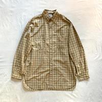 VINTAGE FIT WORK SHIRT (Khaki Check) 03-V8070 / orSlow