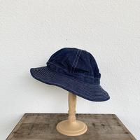 US NAVY HAT(DENIM WHITE ST) / orSlow