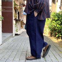 コットンリネン高密度ローン 裾タックバギーパンツ P71108 / prit