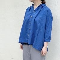 コットンリネンローン チビ衿パネルシャツ / NATURAL LAUNDRY