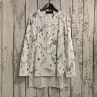 ROUND HENRY NECK SHIRT( ANTIQUE BOTANICAL) / garment reproduction of workers