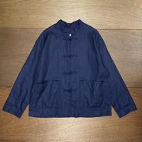 リネン コックシャツジャケット 721J-007 / NATURAL LAUNDRY
