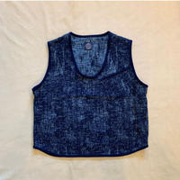 PEELED CLOTH PULLOVER VEST (BLUE)  / Porter Classic