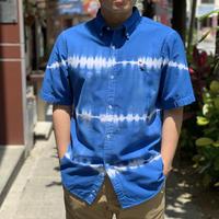 タイダイボタンダウン半袖シャツ(BLUE) / Bohemians