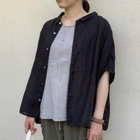 160/1ラミーリネン 5分袖レギュラーカラービッグシャツ P82067 / prit