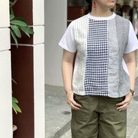 14/-BD天竺 パネルTシャツ / Clip.tab