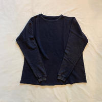 FRENCH THERMAL CREWNECK (BLACK) / Porter Classic