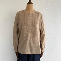 ORGANIC CAMBRIC RANDOM PLEATS SHIRT / maison de soil