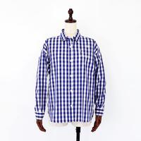 1910603 ギンガムチェックスワロ×刺繍シャツ