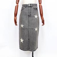 2004703 デニム☆刺繍ロングスカート