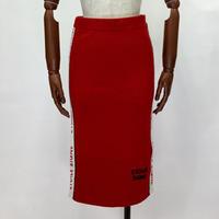1807206 ロゴラインリブ膝下スカート