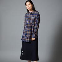 2004706 ストレッチサージ刺繍ロングスカート