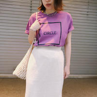 CIRCLE TEE〈PURPLE〉