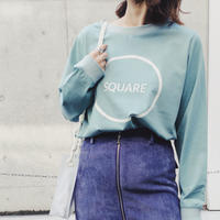 SQUARE L/S TEE 〈GREEN〉