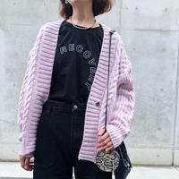 LOW GAUGE CABLE KNIT CD<PINK>