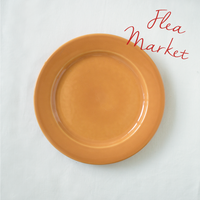 Flea Market Items | Orange Plate