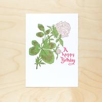活版印刷カード  |   Happy Birthday
