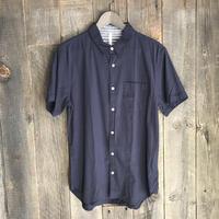 綿麻ストレッチ半袖シャツ 194005