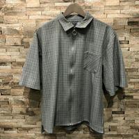 チェックBIG5分袖ZIPシャツ 192-3257