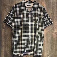 柄入り半袖オープンシャツ 93703602