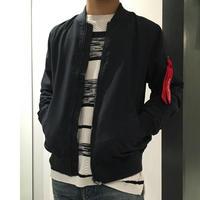 ポリピーチMA-1ジャケット  ネイビー