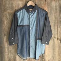 デニムギミック7分袖シャツ