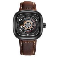 メンズ 腕時計 高級レザー ビジネス カジュアル ファッション 海外限定ブランド 機械式 【新品】