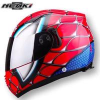 フルフェイス スパイダーマン(レッドorグレー)マーブル アベンジャーズ ヘルメット バイク M,L,XL,XXL