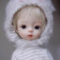 球体関節人形 本体+眼球+メイクアップ済 BJD カスタムドール 赤ちゃん ノーブランド