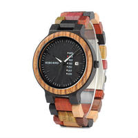 BOBO BIRD ユニセックス 木製 腕時計 カラフル 天然木  素材 カジュアル カラフル 人気モデル