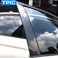 炭素繊維車の窓b-本柱装飾ステッカー用bmw e60 e90 f30 f10 f20 f07 e70 e84 e46車のスタイリングトリムアクセサリー【新品】