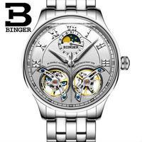 BENGER 腕時計 トゥールビヨン 機械式 防水 サファイアクリスタル メンズ スチール