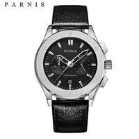 バーニス 腕時計 メンズ クォーツ腕時計 パイロットシリーズ 41mm レザーストラップ