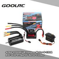 9.0キロHVサーボとGoolRC 4068 2050KVブラシレスモーターS-120A ESC 1/8 RC車のブラシレスコンボセットのアップグレード