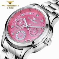 レディース 高級 腕時計 海外 ラグジュアリー ブランド 自動巻き オートマティック クリスタル カレンダー 防水
