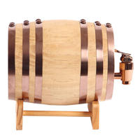 XMT-HOME オークワイン樽 木製バケツ アルコール 発酵酒 ミニ樽 ミニビール樽 3L