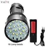 48000ルーメン ハイパワー懐中電灯16 26650バッテリー防水CREE XML-T6強力なLEDフラッシュライト