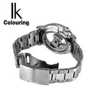 トゥールビヨン IK Colouring メンズ機械式腕時計 スケルトン 高級ブランド 自動巻 ゴールド