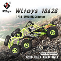 オリジナルWltoys 18628 1/18 2.4G 6WD 電動オフロードロッククローラーRCバギーカーRTRクライミング