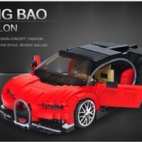 Xingbao ブロックおもちゃ ブガッティ シロン風 moc ブロックキット 知育玩具 スーパーカー