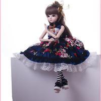 球体関節人形 BJD 衣装付き お姫様 お嬢様 女の子 プリンセスドール 60cm 美しい フランス人形/西洋人形/SD シックなドレス 美少女