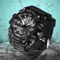スポーツウォッチ メンズ トップブランド 高級 電子LEDデジタル 腕時計 海外ブランド品 【6カラー】