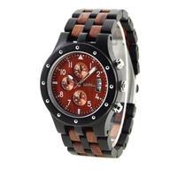 エコウォッチ Bewell メンズ 男性 木製腕時計 高級感 クロノグラフ