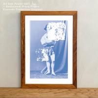 アートポスター インテリア A4 + ポスターフレーム アンティーク「Native Dancer 5x4」Classic Portrait グラフィック