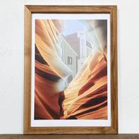 Golden Hotel「コラージュ」 A4 プリント ポスター アート  & 古材 アートフレーム